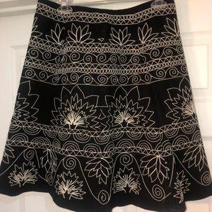 Talbots Ladies fun black skirt with stitching. 10